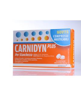 Carnidyn Plus 18 Compresse Masticabili Stanchezza Fisica e Mentale
