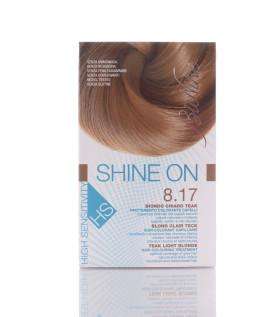 BIONIKE SHINE ON HS Trattamento colorante capelli BIONDO CHIARO TEAK 8.17