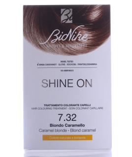 BIONIKE SHINE ON Trattamento colorante capelli BIONDO CARAMELLO 7.32