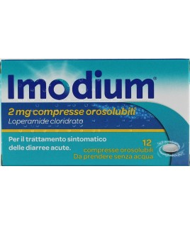 Imodium 12 compresse orosolubili 2mg