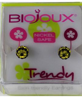 Biojoux orecchini 8165 ball Giallo/nero 6mm