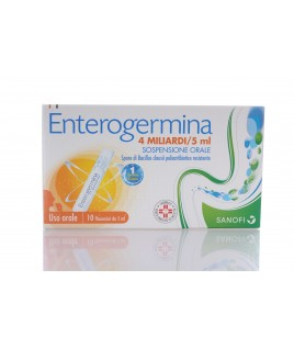 Enterogermina*os 10 flaconcini 4mld 5ml