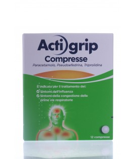 Actigrip Compresse 12cpr 2,5+60+500mg