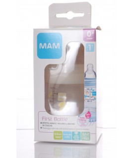 MAM FIRST BOTTLE 130ML BIBERON ANTI-COLICA CON  TETTARELLA MISURA 1 DA 0+ MESI