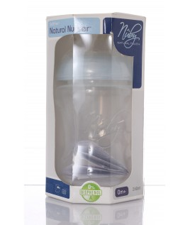 NUBY NATURAL TOUCH BIBERON FLUSSO LENTO 240ML 0+mesi