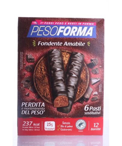 PESOFORMA BARRETTE CIOCCOLATO FONDENTE AMABILE 6 PEZZI 372G