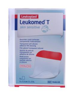 Leukomed T Skin Sensitive Medicazione trasparente con adesivo in silicone 7,2x5