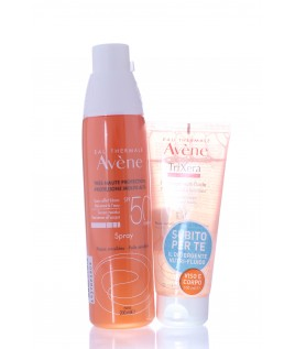 AVENE SOLARE SPRAY SPF50+ E TRIXERA NUTRITION DETERGENTE 100ML