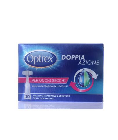 Optrex Doppia Azione gocce oculari reidratanti e lubrificanti 10 monodose