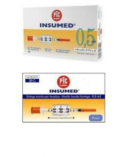 PIC INSUMED 0,5ML G30 8MM 30PZ