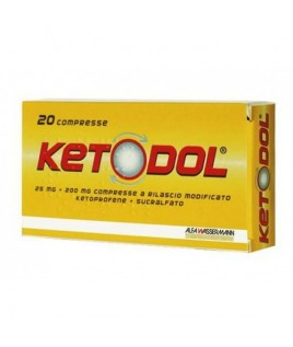 KETODOL 20CPR 25MG+200MG